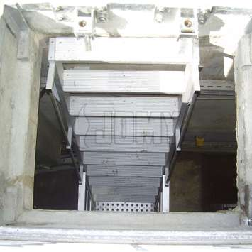 A stepladder in a pit