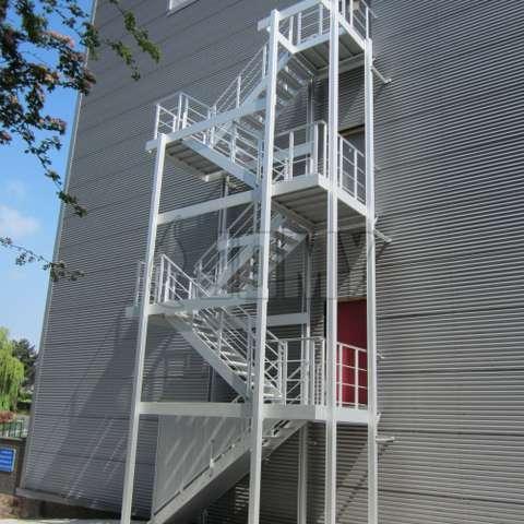 Exterior And Interior Aluminum Stairs