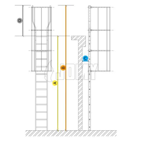 How to specify your cage ladder?