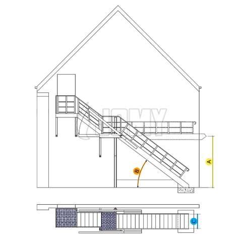 Counterbalanced stairs - Retractable flight | JOMY