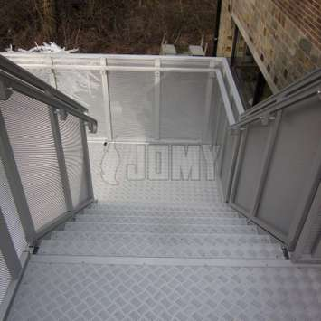 Custom stair guardrails.