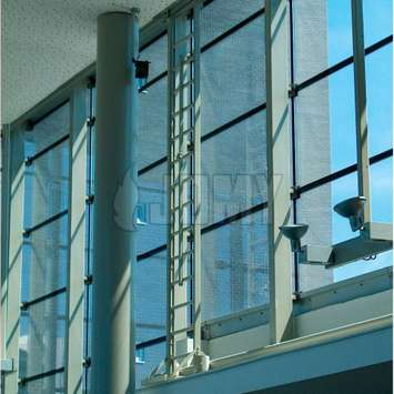Interior mobile ladder for window cleaning and maintenance - Building Maintenance Unit