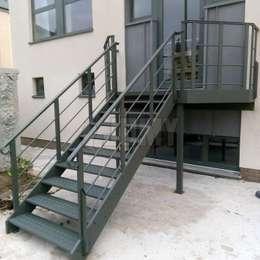Aluminium stairs for evacuation or access | JOMY