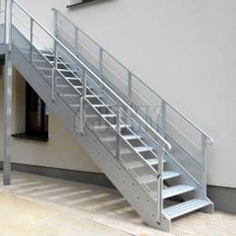 Exterior and interior aluminium stairs are the preferred solution for collective emergency evacuation or access at heights.