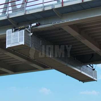 Suspended gantry for bridge maintenance - Building Maintenance Unit
