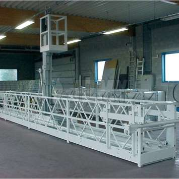 White work platform with telescopic gantry - Building Maintenance Unit