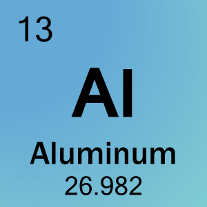 Aluminum in the mendeljef table