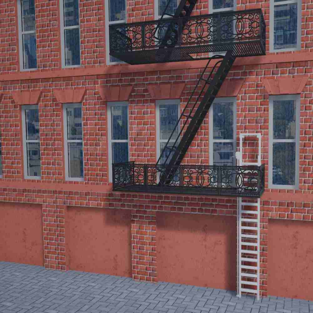 Apartment Building Fire Escape Ladder jomy | custom aluminum constructions for your safety