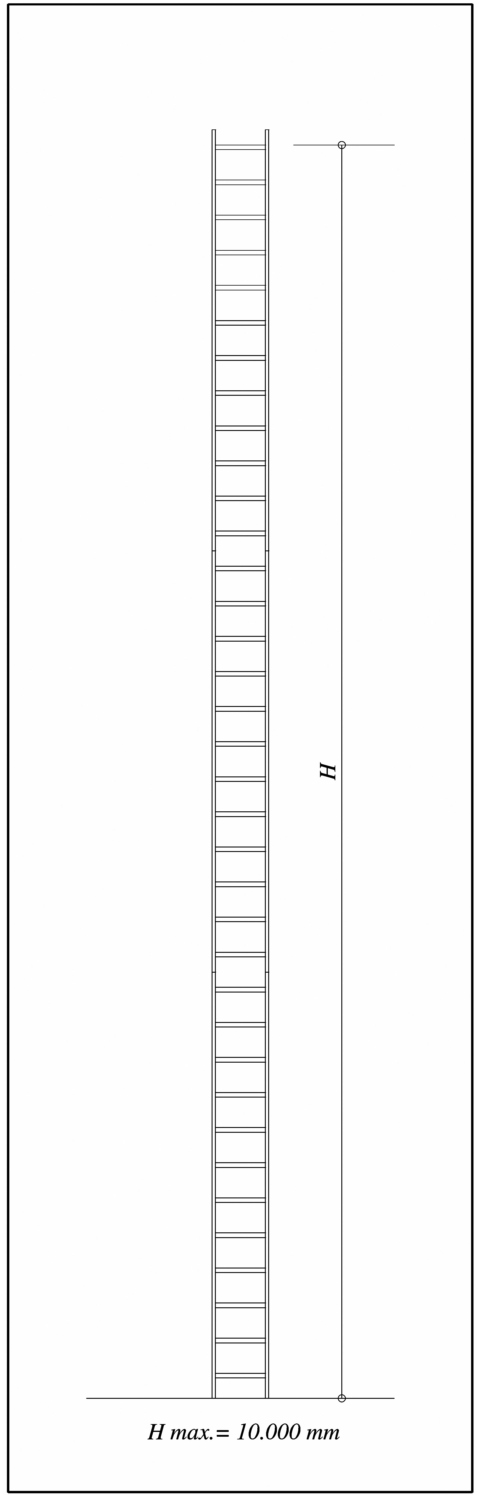 Max height of a fixed ladder