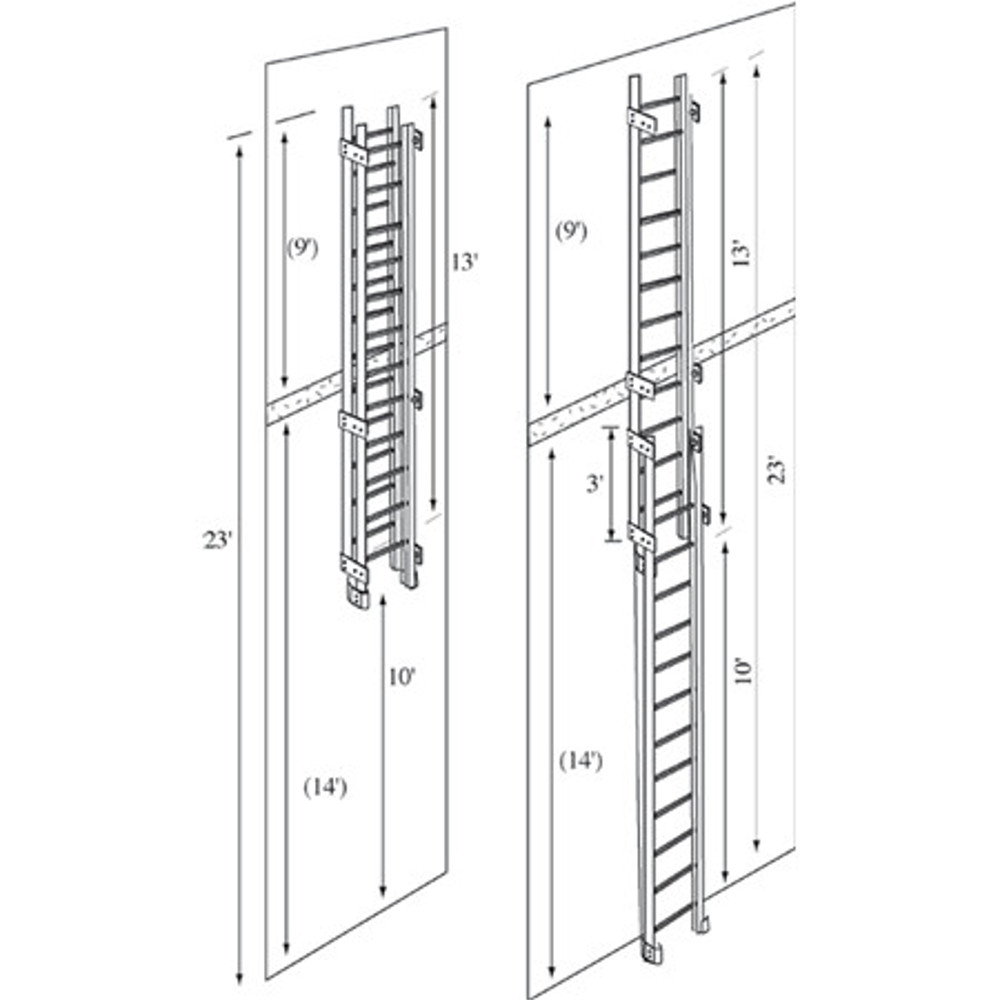 Jomy Standard Sizes Of The Jomy Counterbalanced Ladder