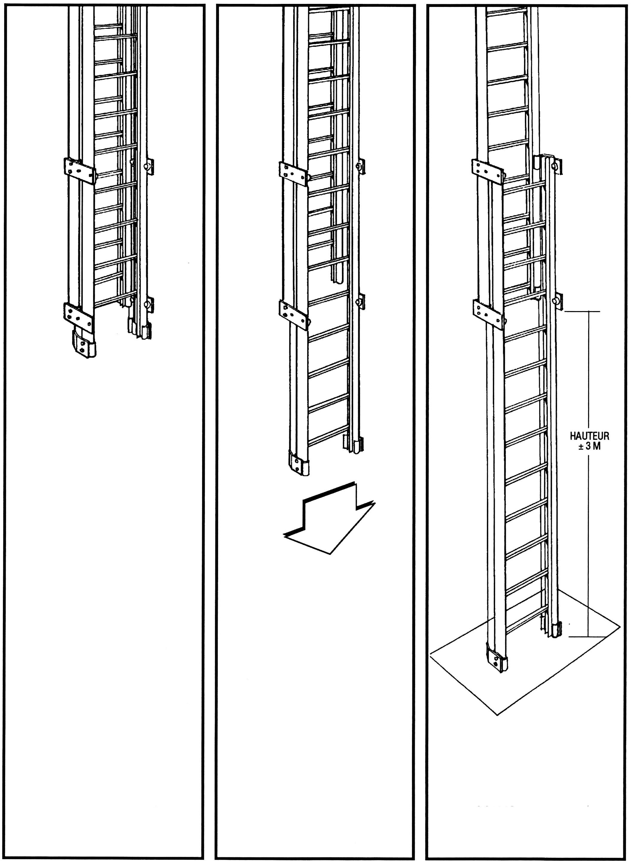 Counter-balanced ladder, base section