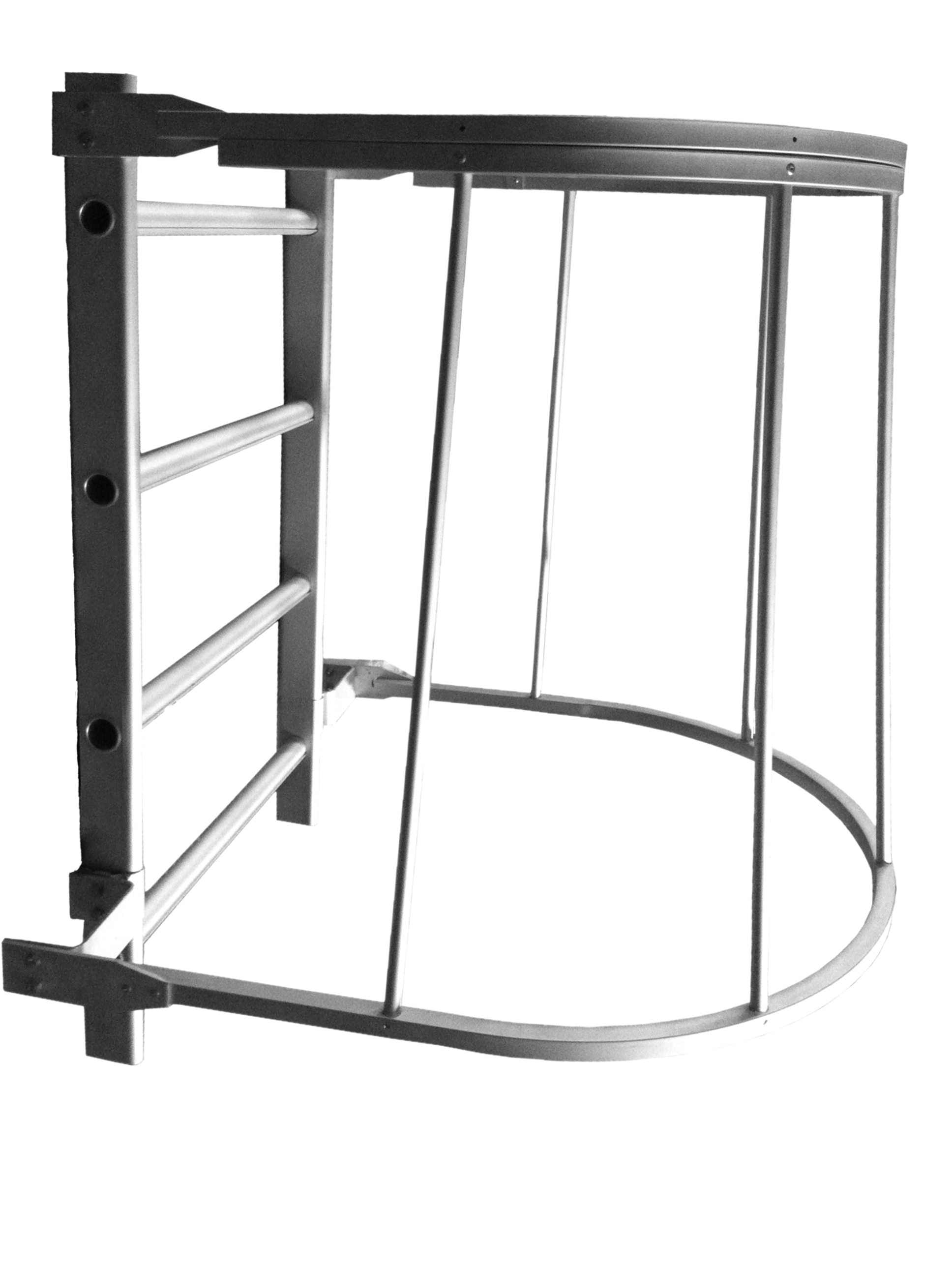 Flared bottom cage