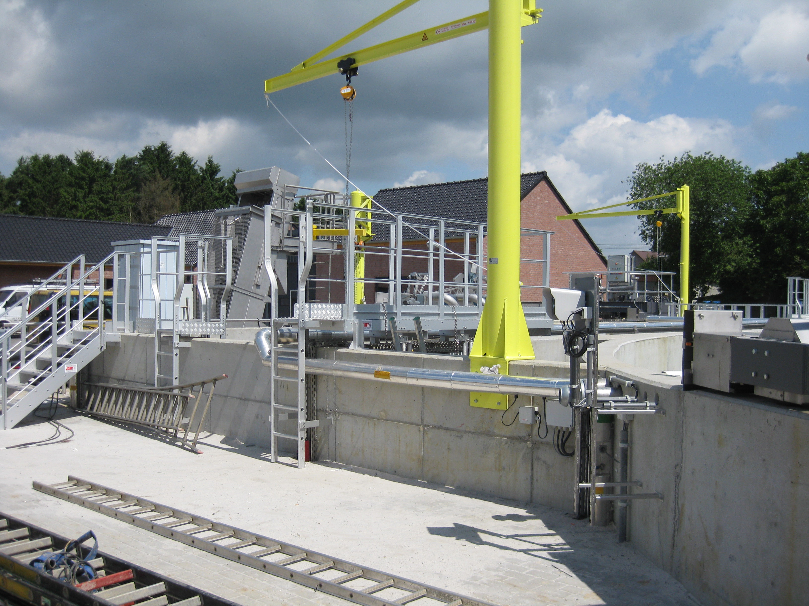 JOMY constructions in a water treatment plant