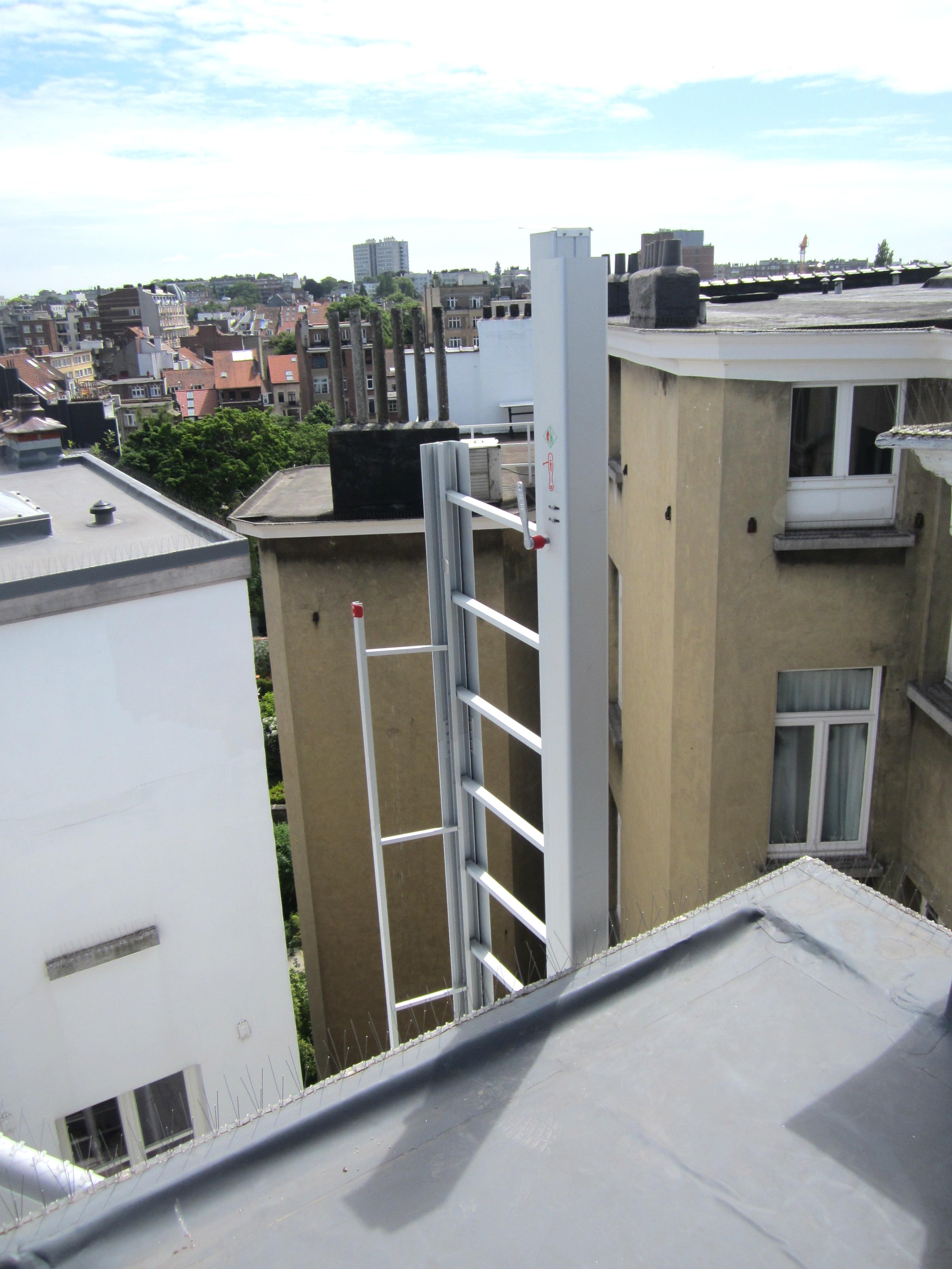 Profil de renfort en cas d'accès en toiture